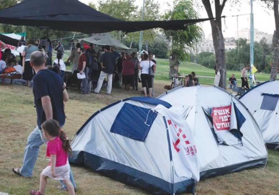 Young activists at tent city protests