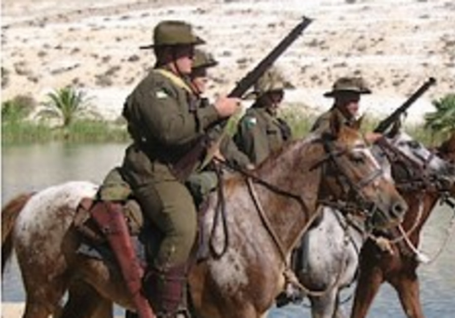 ANZAC Horsemen in KKL-JNF Negev sites mark 90th anniversary of WWI