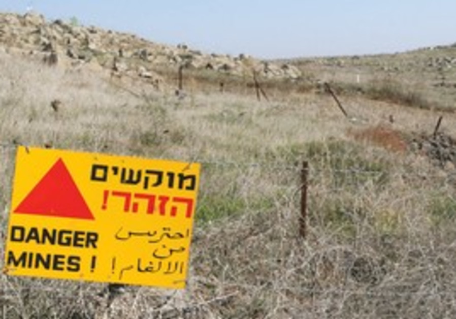 A minefield on the Golan Heights