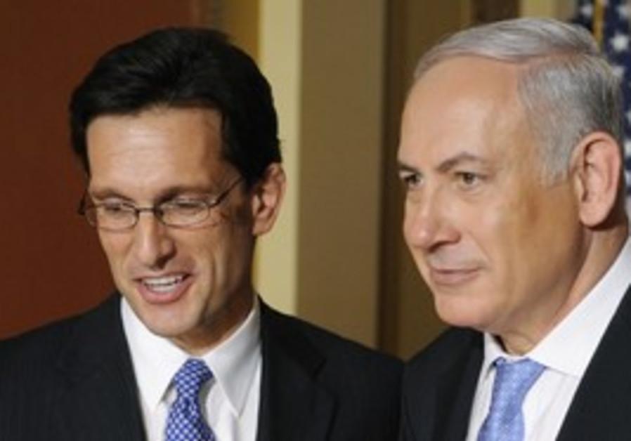 Eric Cantor with PM Binyamin Netanyahu