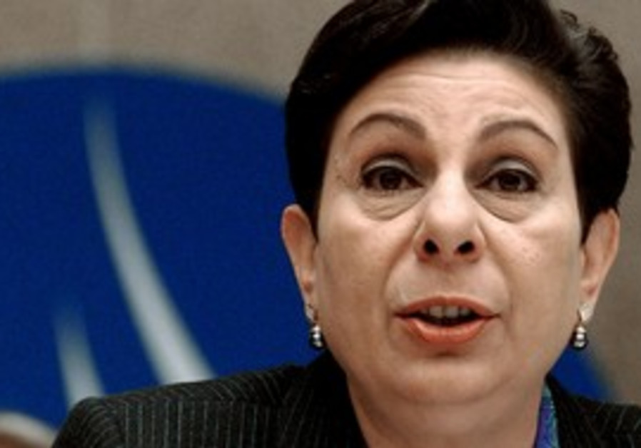 PLO Executive C'tee member Hanan Ashrawi
