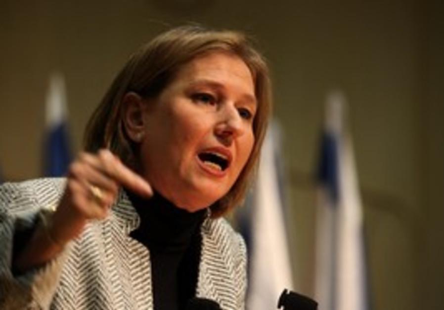 Opposition leader Tzipi Livni