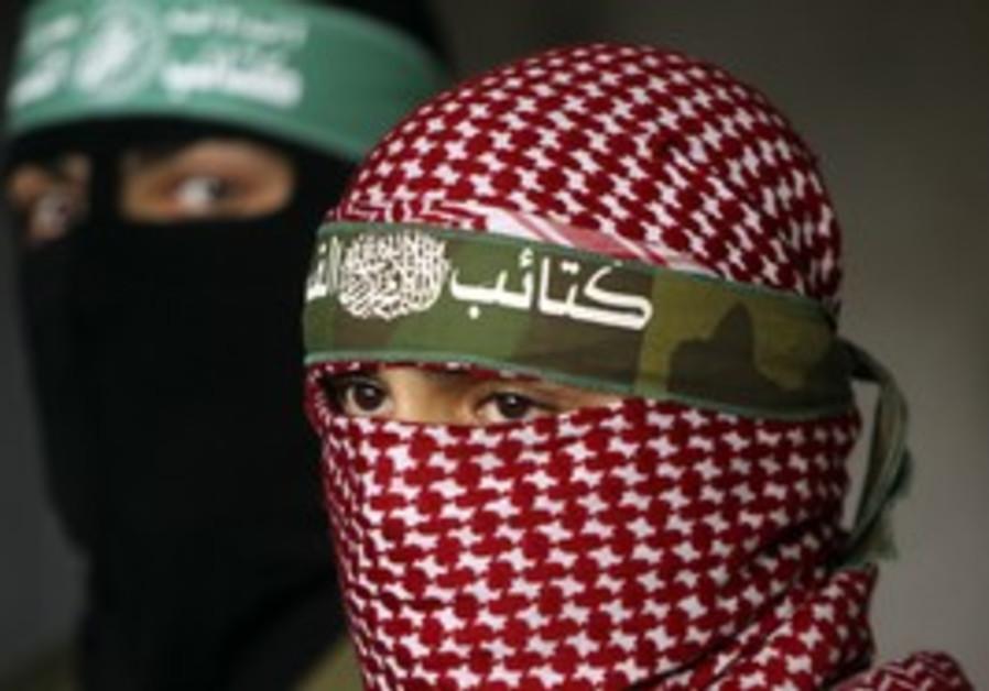 Masked Hamas terrorists