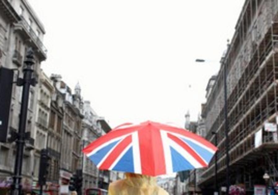 UK Flag umbrella in London