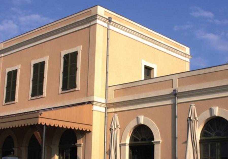 The restored train station in Jaffa