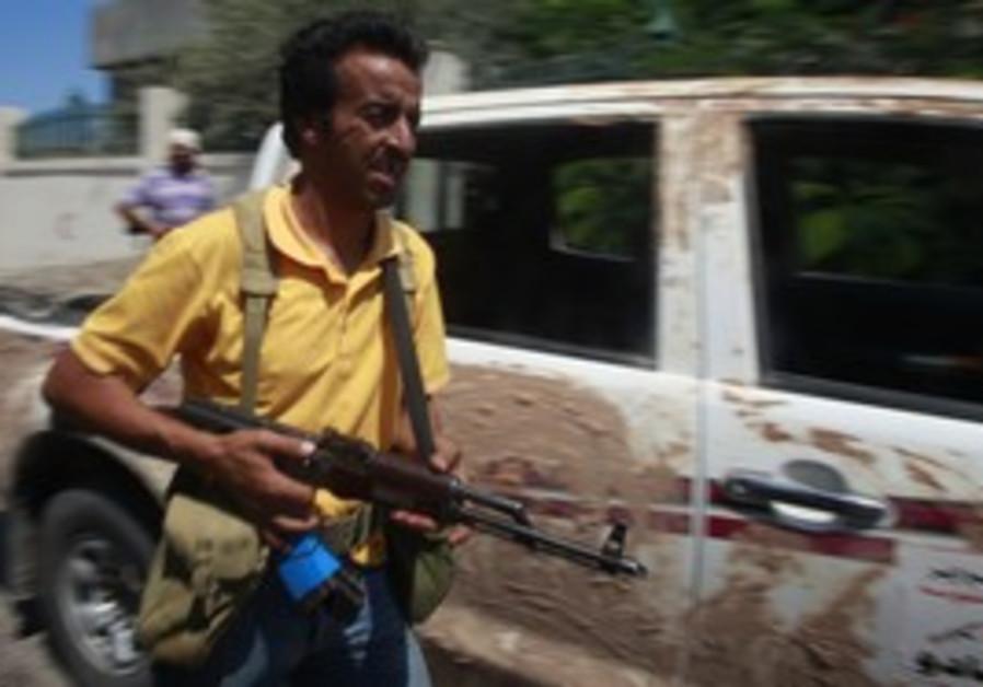 Libyan rebel in Zawiyah