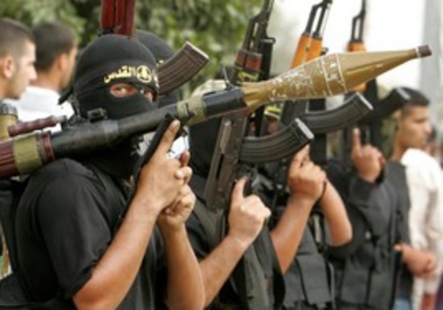 Islamic Jihad terrorists in Gaza
