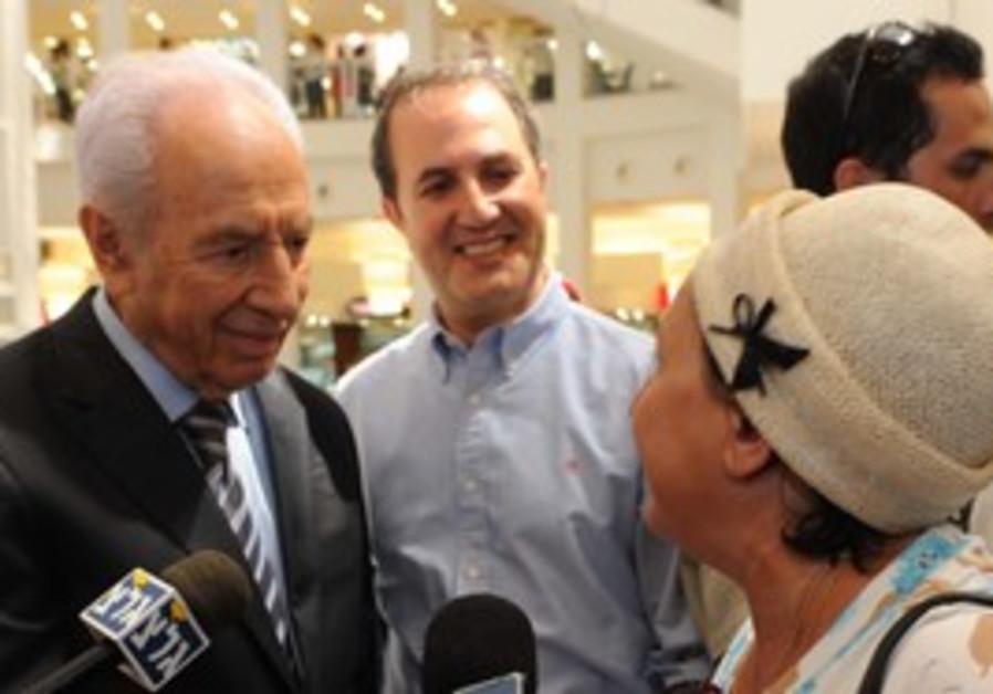 President Shimon Peres visiting Ashdod