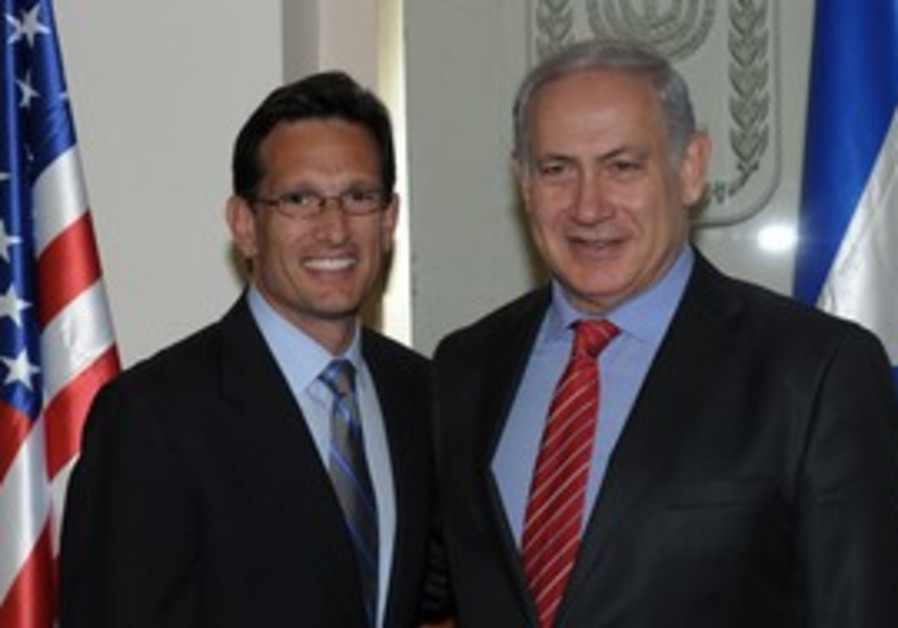 Netanyahu with Majority Leader Eric Cantor