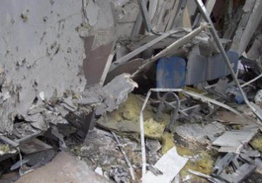 Ashkelon rocket damage [illustrative]