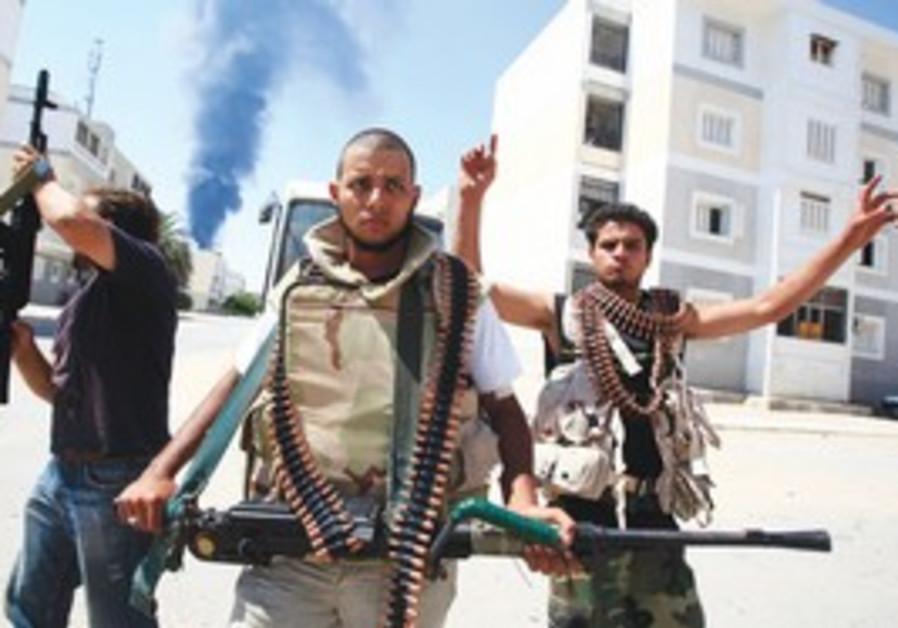 Rebels in Tripoli during Libya uprising