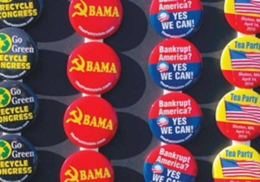 anti Obama tea party pins