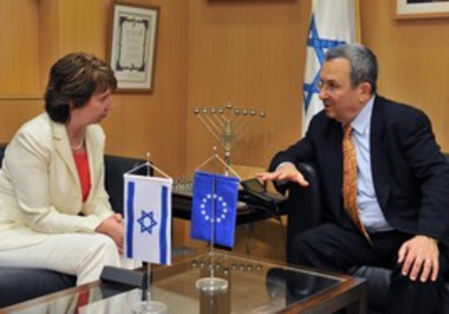 Catherine Ashton and Ehud Barak