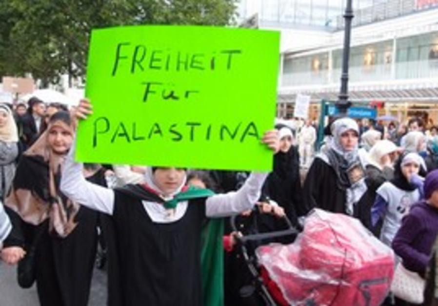 Berlin anti Israel rally