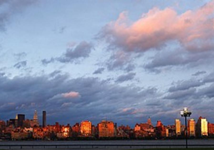 Manhattan during sunset, after Hurricane Irene