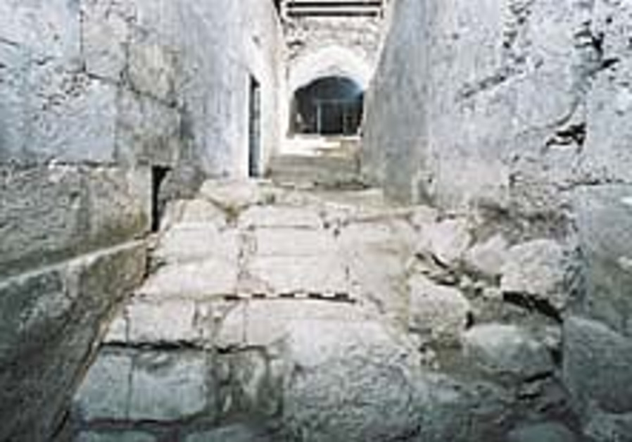 Roman street uncovered in Western Wall tunnels