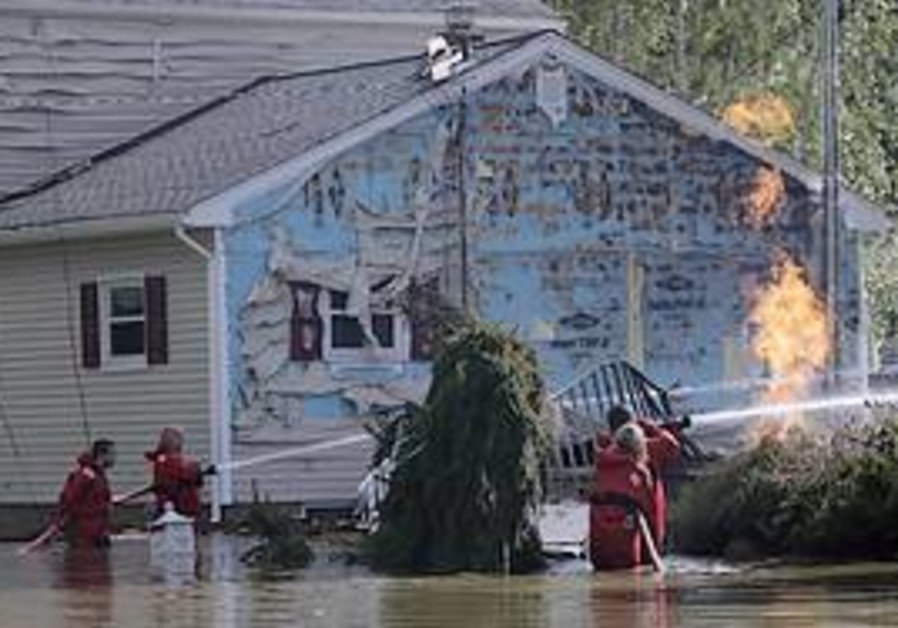 A house hit by Irene