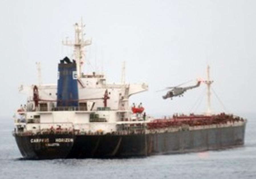 Freighter taken by pirates