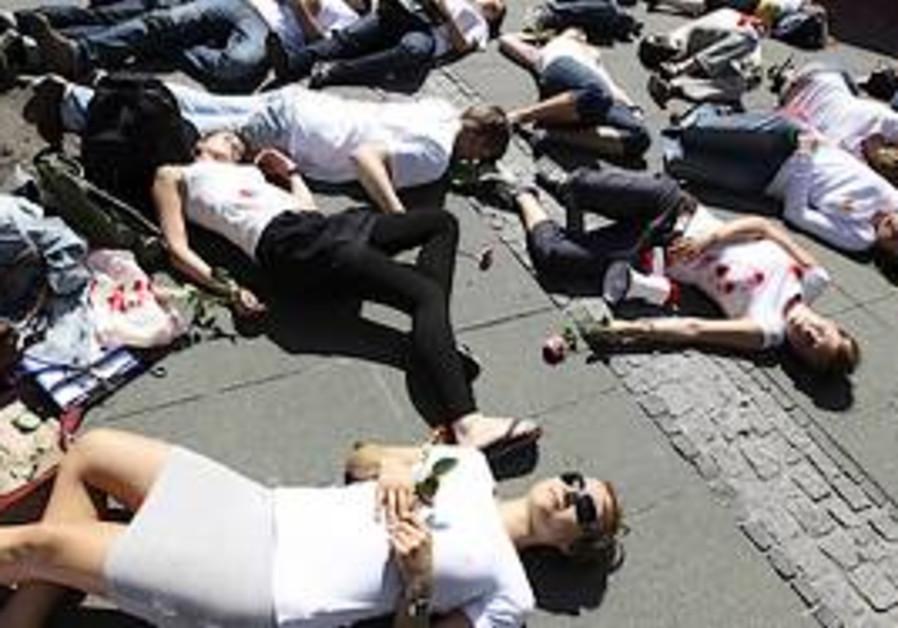 An Amnesty anti-Syrian protest
