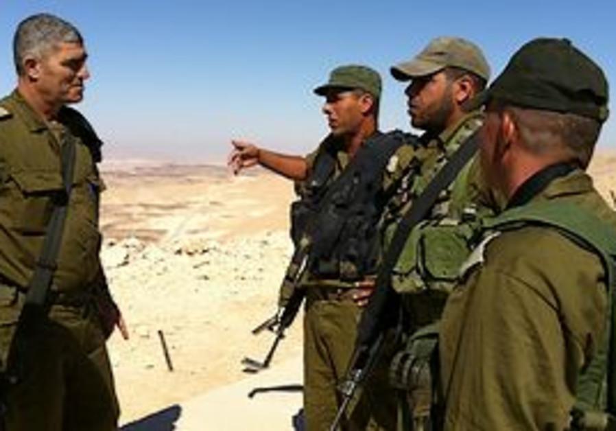 Maj.-Gen Tal Russo meets troops along border