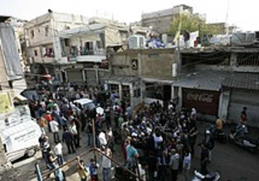 Clashes reported in Palestinian refugee camp near Beirut