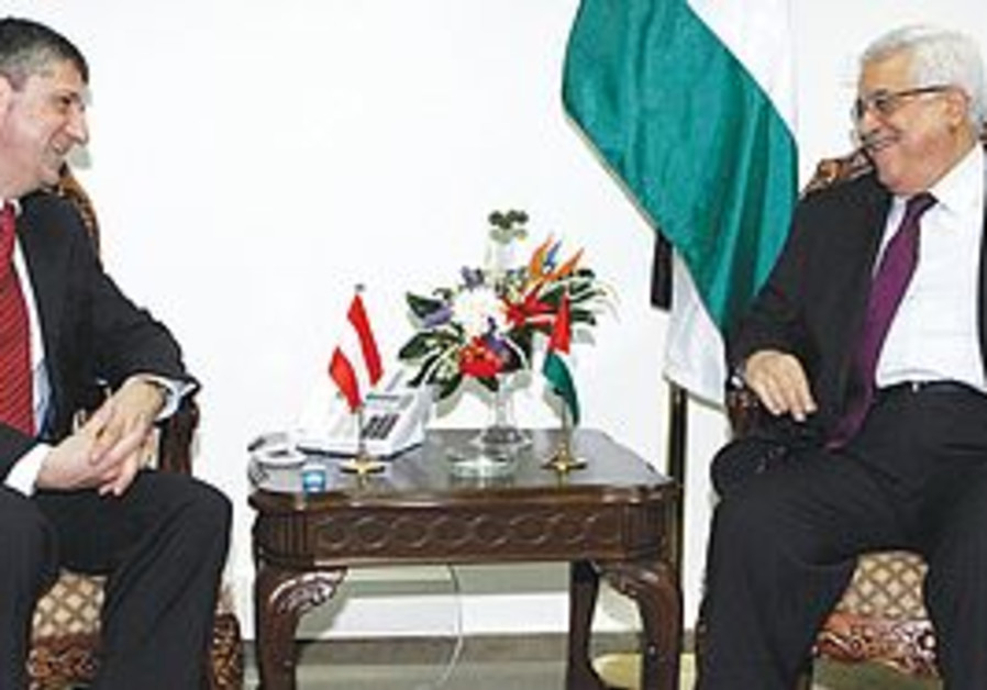 AUSTRIAN FM Spindelegger and Abbas