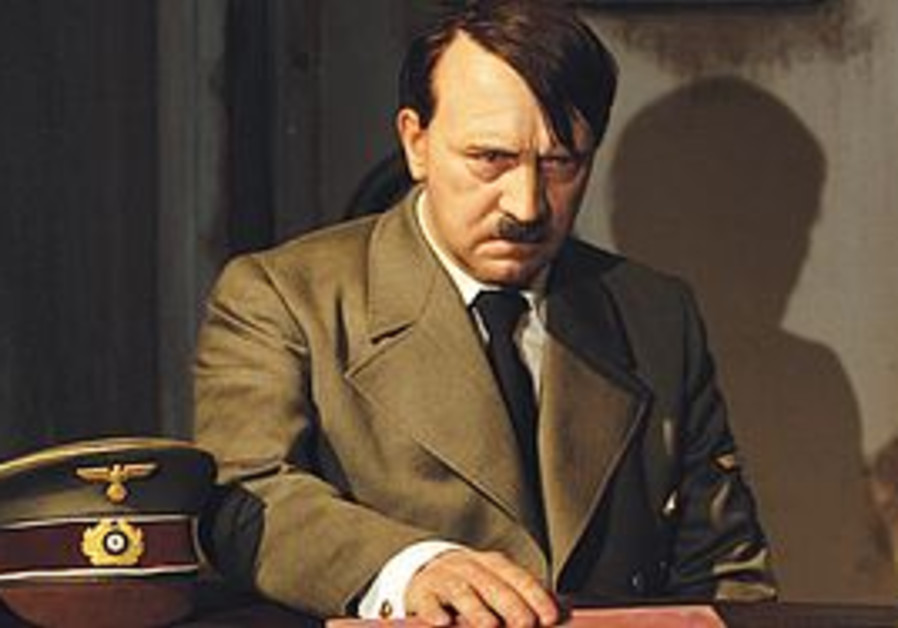 Hitler figure at Madame Tussauds museum