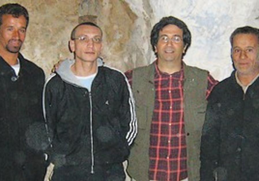 David Gerbi with Berber friends
