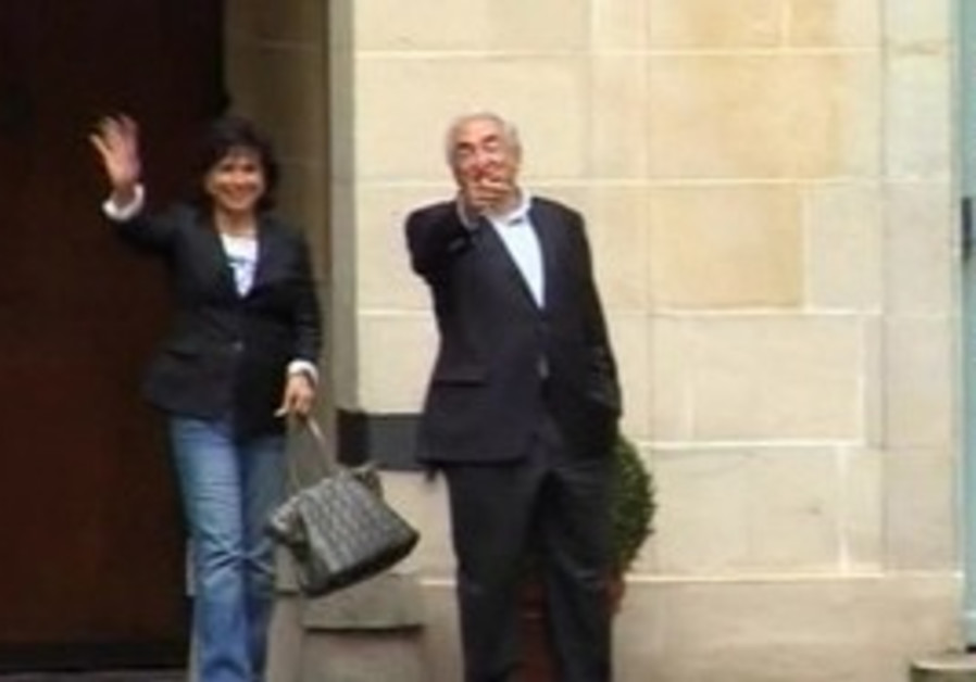 Dominique Strauss-Kahn returns home.