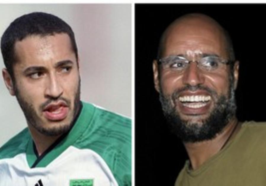 Gaddafi brothers Saadi (R) and Seif al Islam (L).