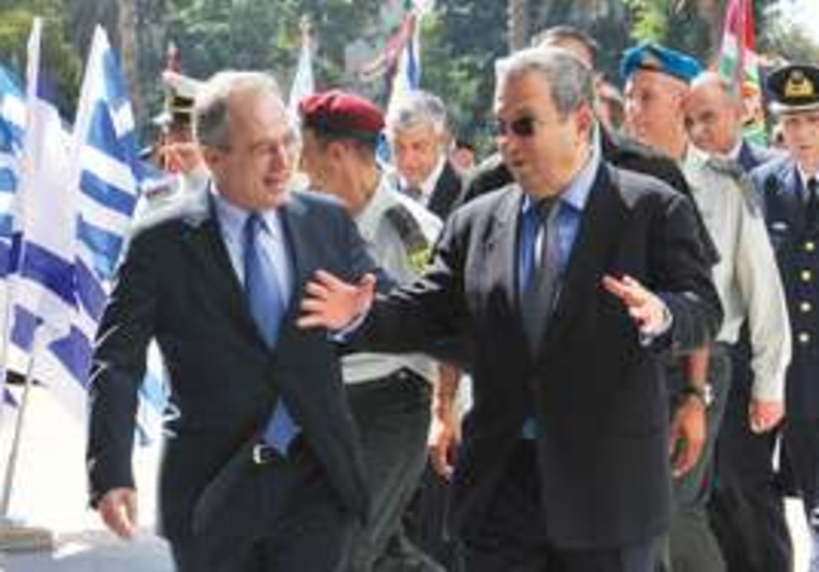 Ehud Barak and Greek counterpart
