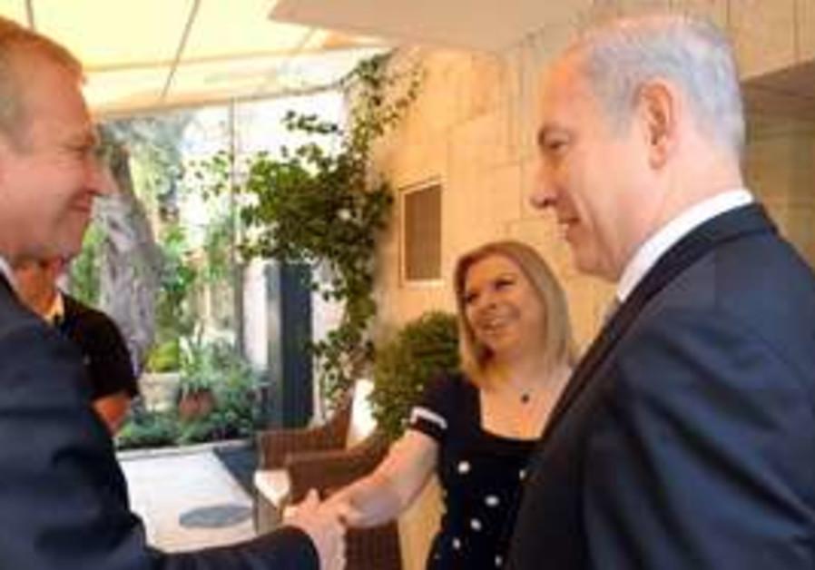 Netanyahu meets with Belgian PM Leterme