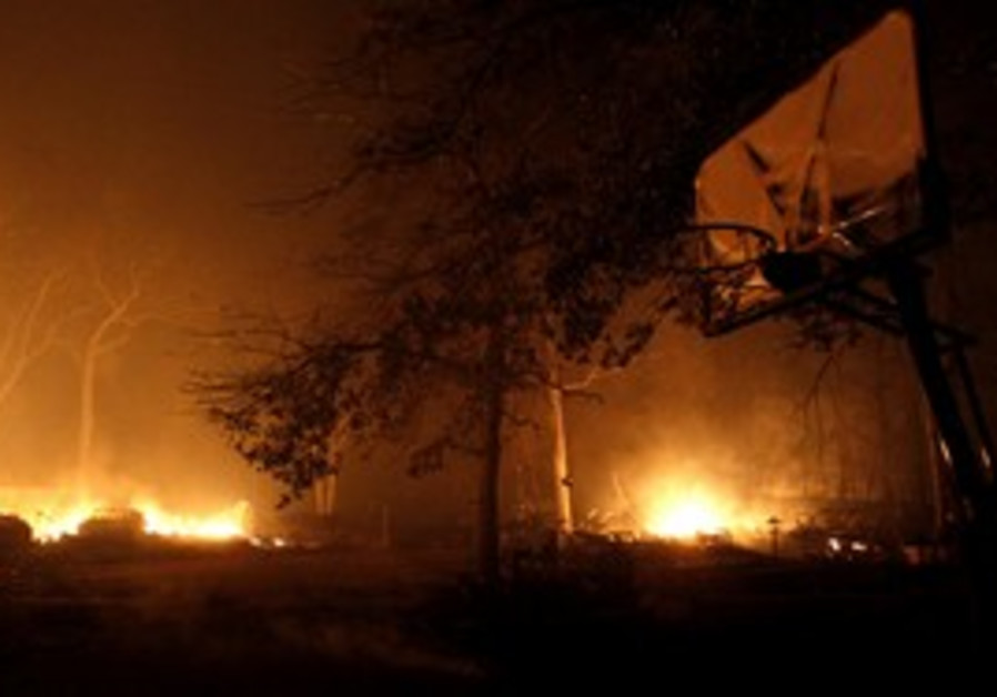 Home burns near Bastrop, Texas