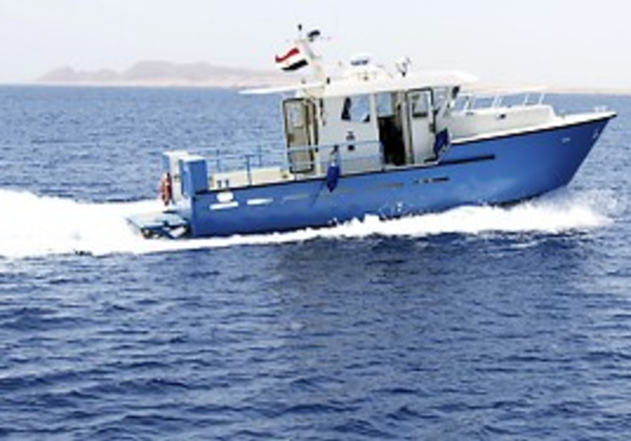 Egyptian security boat in Red Sea [illustrative]