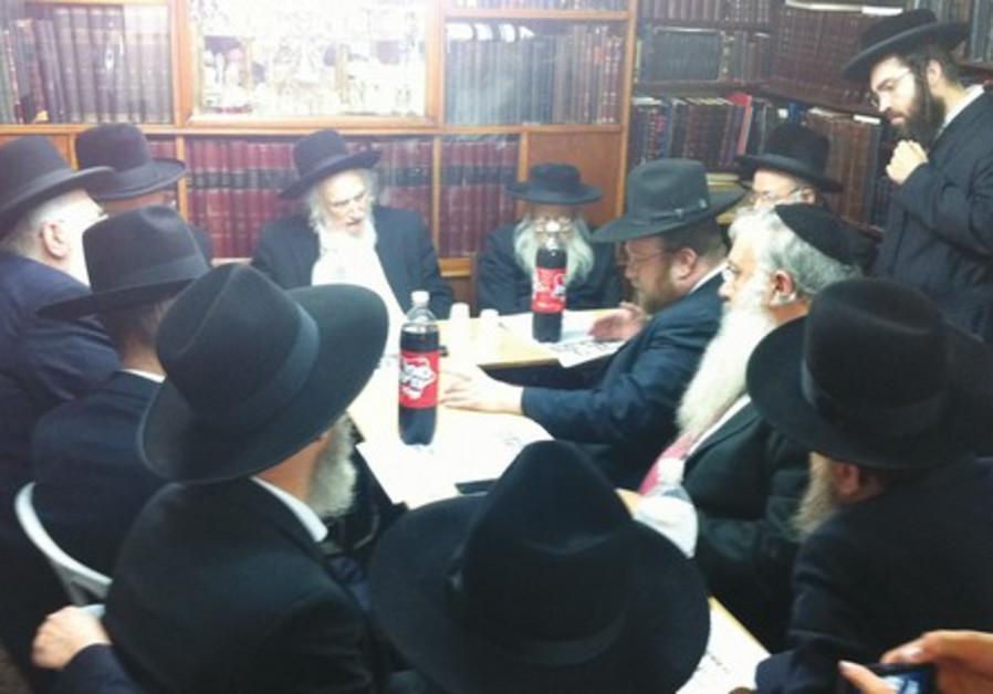 UTJ J'lem mayors meet with Eda Haredit