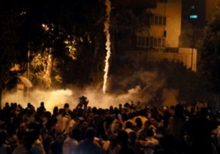 violent protests outside Israeli Embassy in Cairo