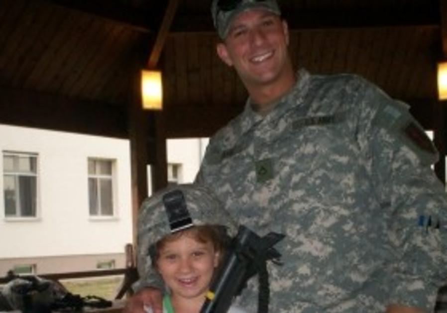 Daniel Agami and his sister Shaina at Army base