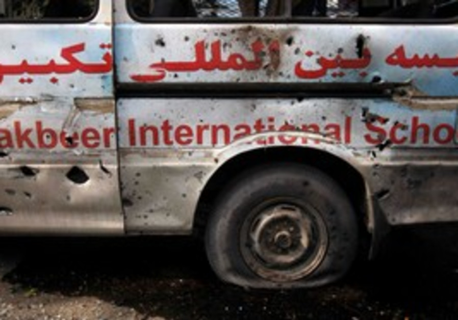 Vehicle damaged in Kabul attack