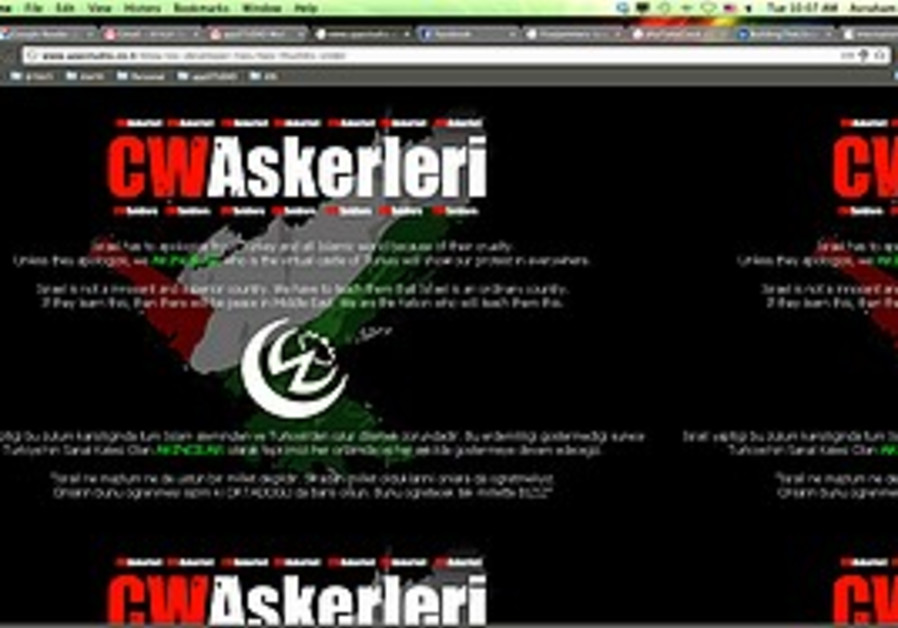 The hacked Web site