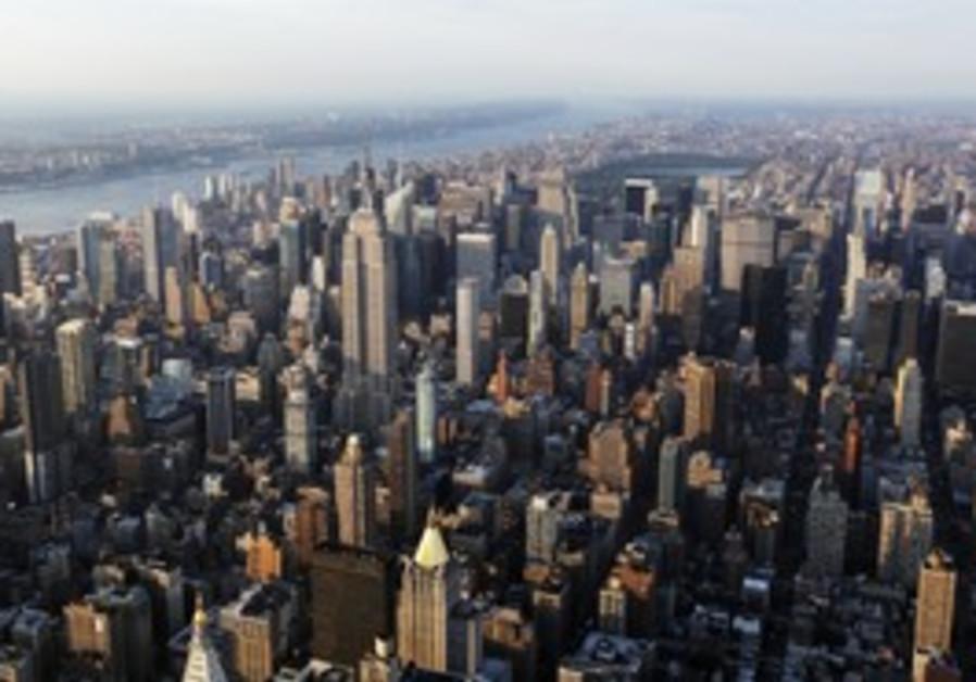 Skyscrapers are seen in New York's Manhattan