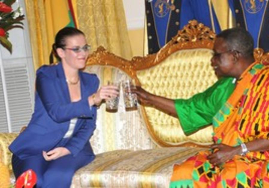 Ambassador Sharon Bar-Li with Ghanian president
