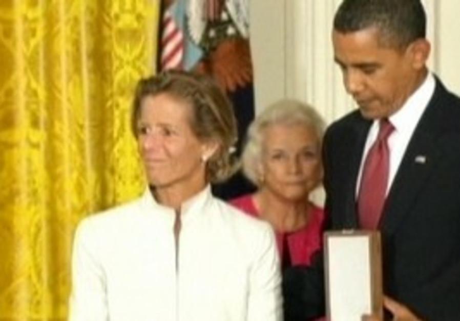 Kara Kennedy Allen and President Barack Obama.