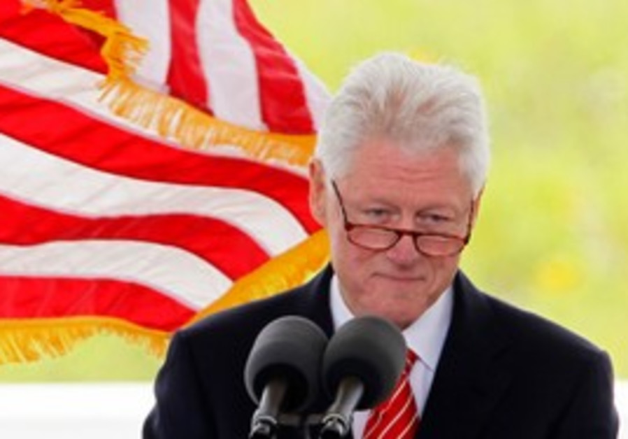 Bill Clinton giving a speech in US