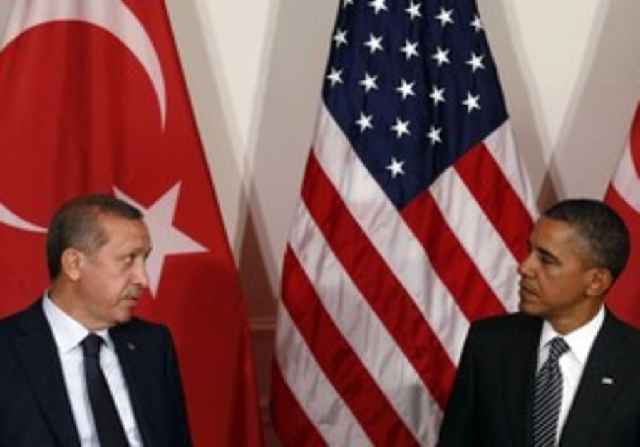 Turkish PM Erdogan, US President Obama.