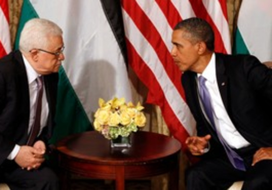 Obama meets with Abbas at UN in NY [file]