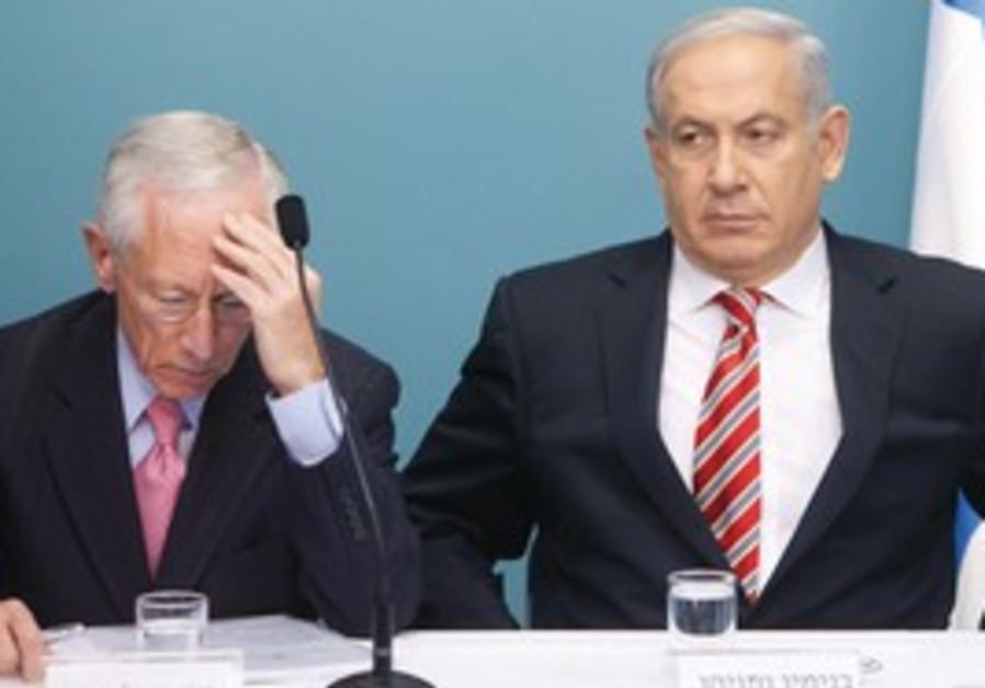 Binyamin Netanyahu and Stanley Fischer