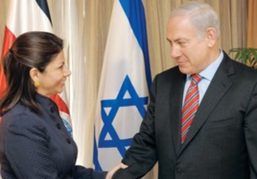 Netanyahu and Costa Rican President Miranda