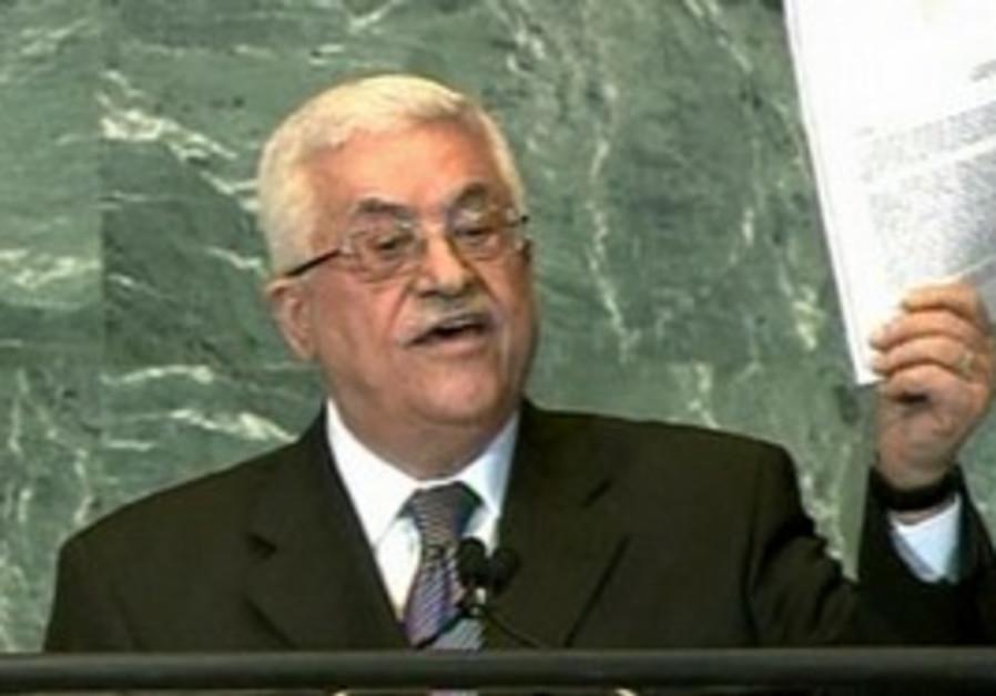 Abbas waving UN application