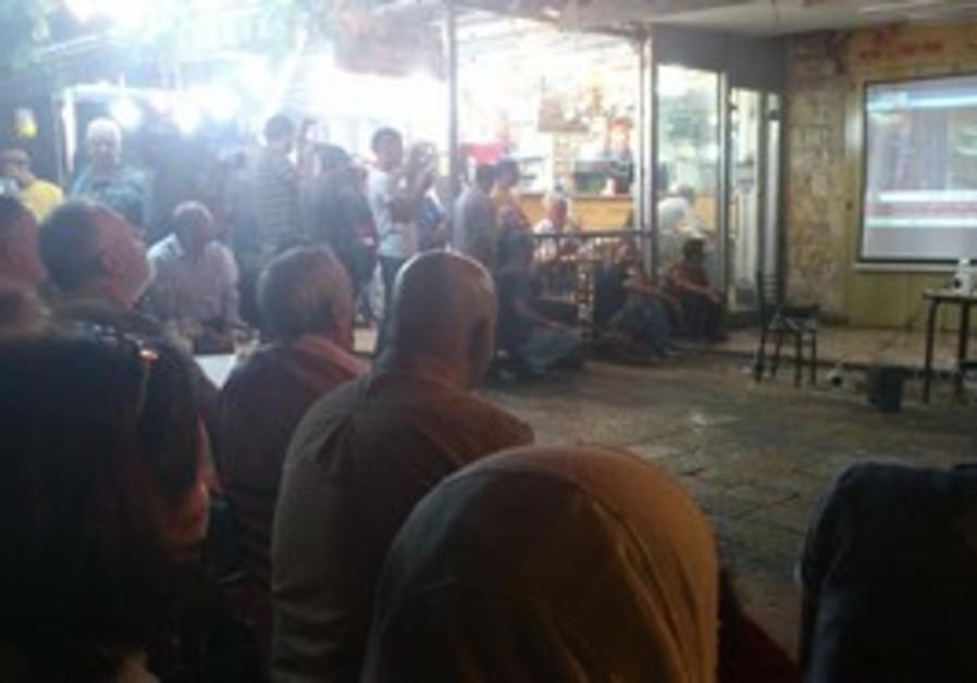 East Jerusalemites watch Abbas speech to UN