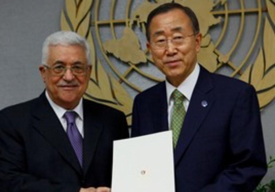 PA President Abbas gives letter to Ban Ki-moon